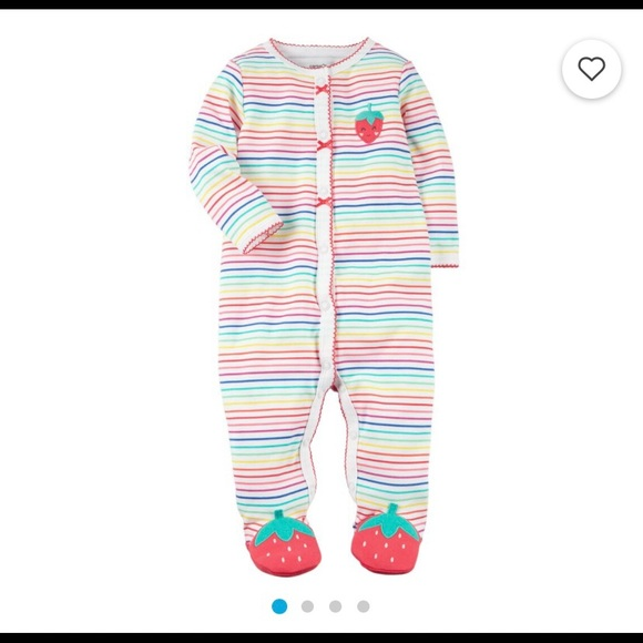 ISO Carters Snap Up Strawberry Cotton Sleep & Play